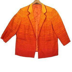 Linda Allard Ellen Tracy Orange Striped Blazer